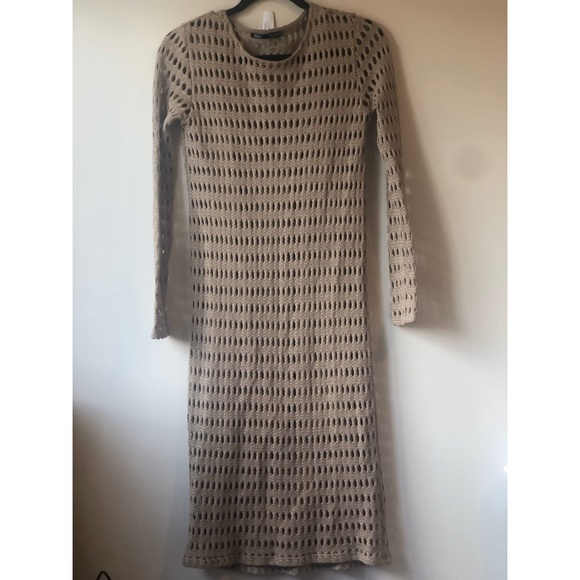 Zara long sleeve cutout dress SMALL